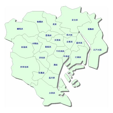 24時間出張買取エリアの東京地図